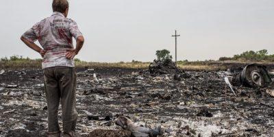 El avión de Malaysia Airliness que fue derribado en la frontera entre Ucrania y Rusia Foto:Getty Images