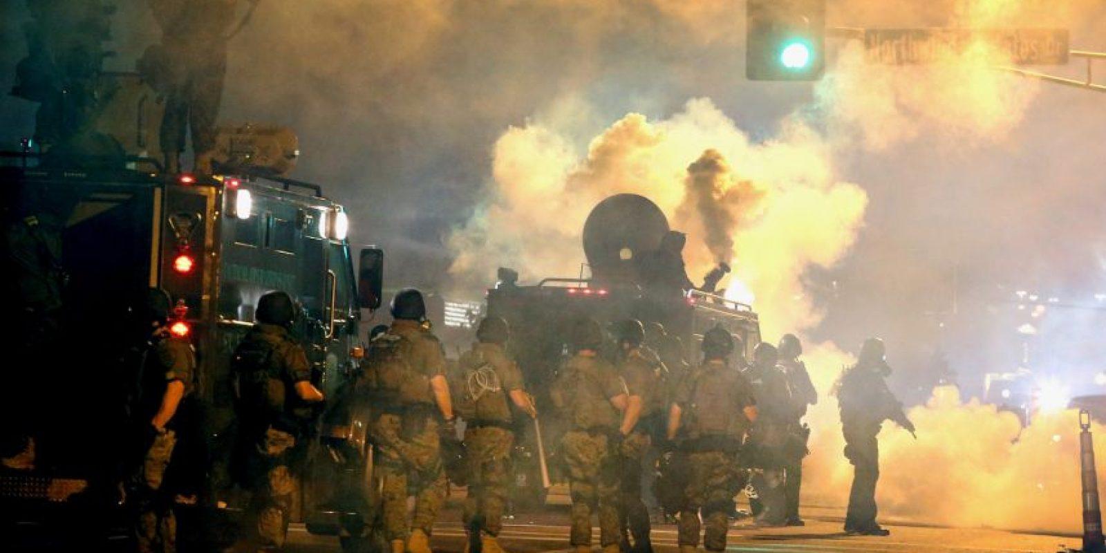 Las protestas en Missouri por la muerte de Michael Brown a manos del policía Foto:Getty Images