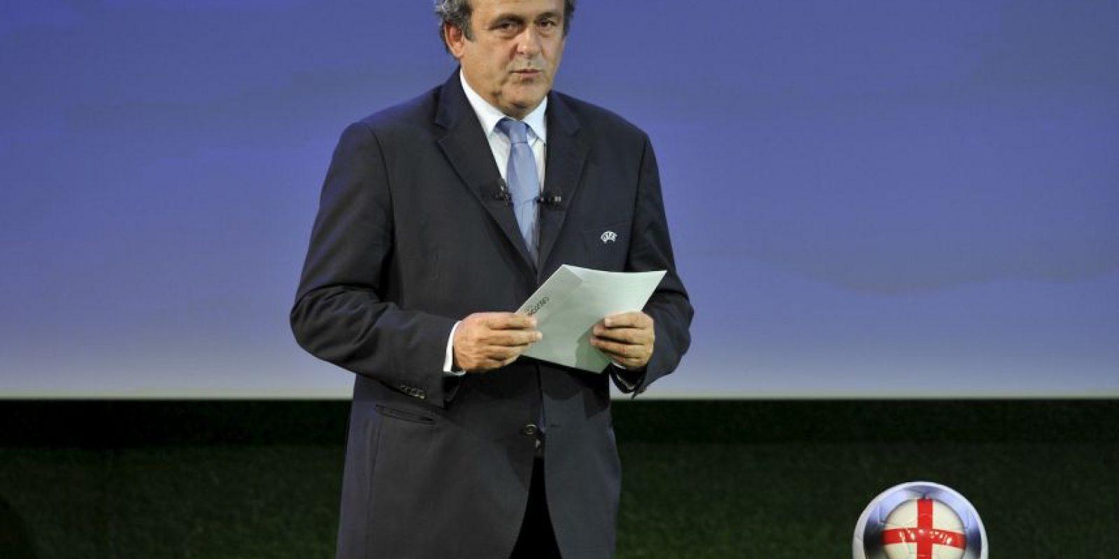 El presidente de la UEFA, Michel Platini, también ha sido acusado de sobornos en la elección de la Copa del Mundo de 2022 Foto:Getty