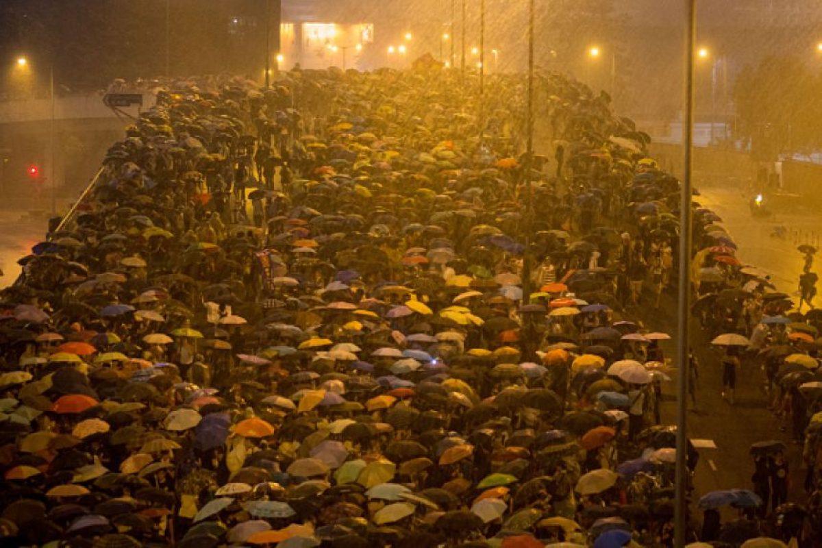 Las protestas en Hong Kong por una apertura democrática también lograron su hashtag. Foto:Getty Images