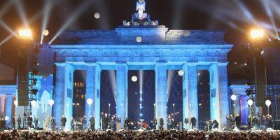 Se cumplieron 25 años de la caída del muro de Berlin. Foto:Getty Images