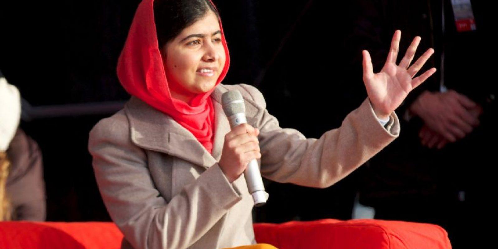 La activista fue condecorada con el Premio Nobel de la Paz, convirtiéndose en la persona más joven en recibirlo. Foto:Getty Images