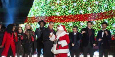 Obama recibió hace unos días al mítico Santa Claus Foto:Agencias