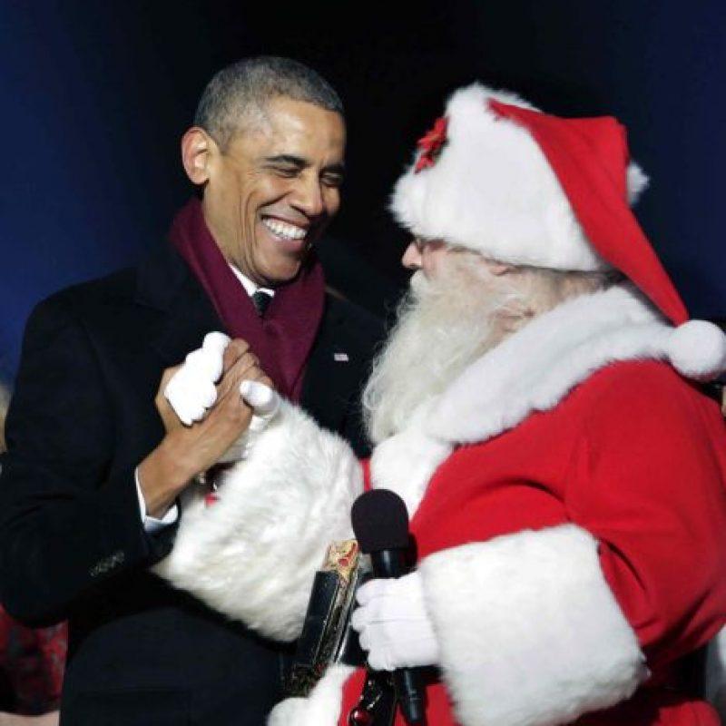Santa Claus visitó recientemente a Barack Obama Foto:Agencias