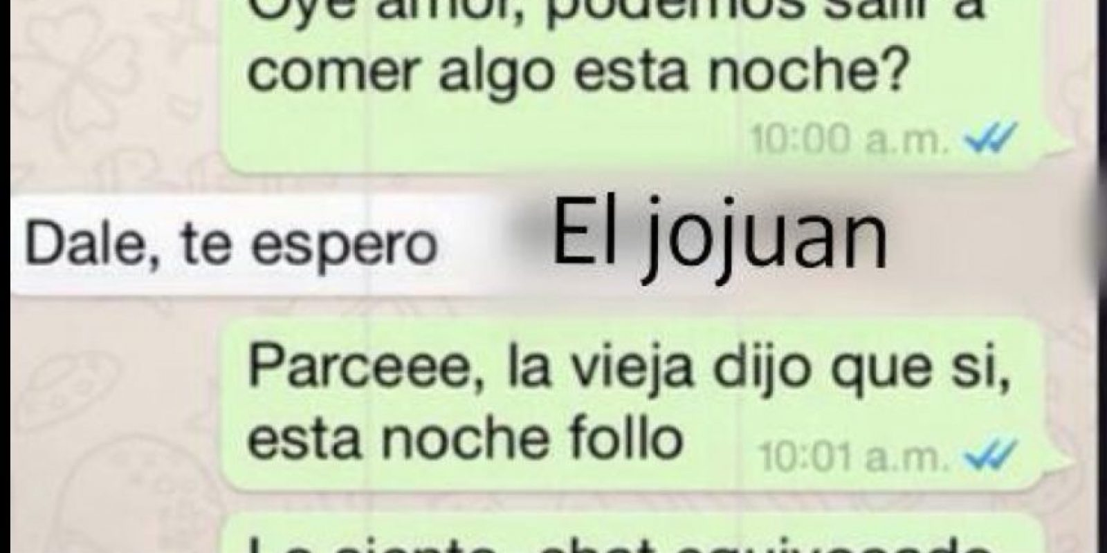 Chat equivocado. Foto:El jojuan/Oigan a esta boba/Facebook