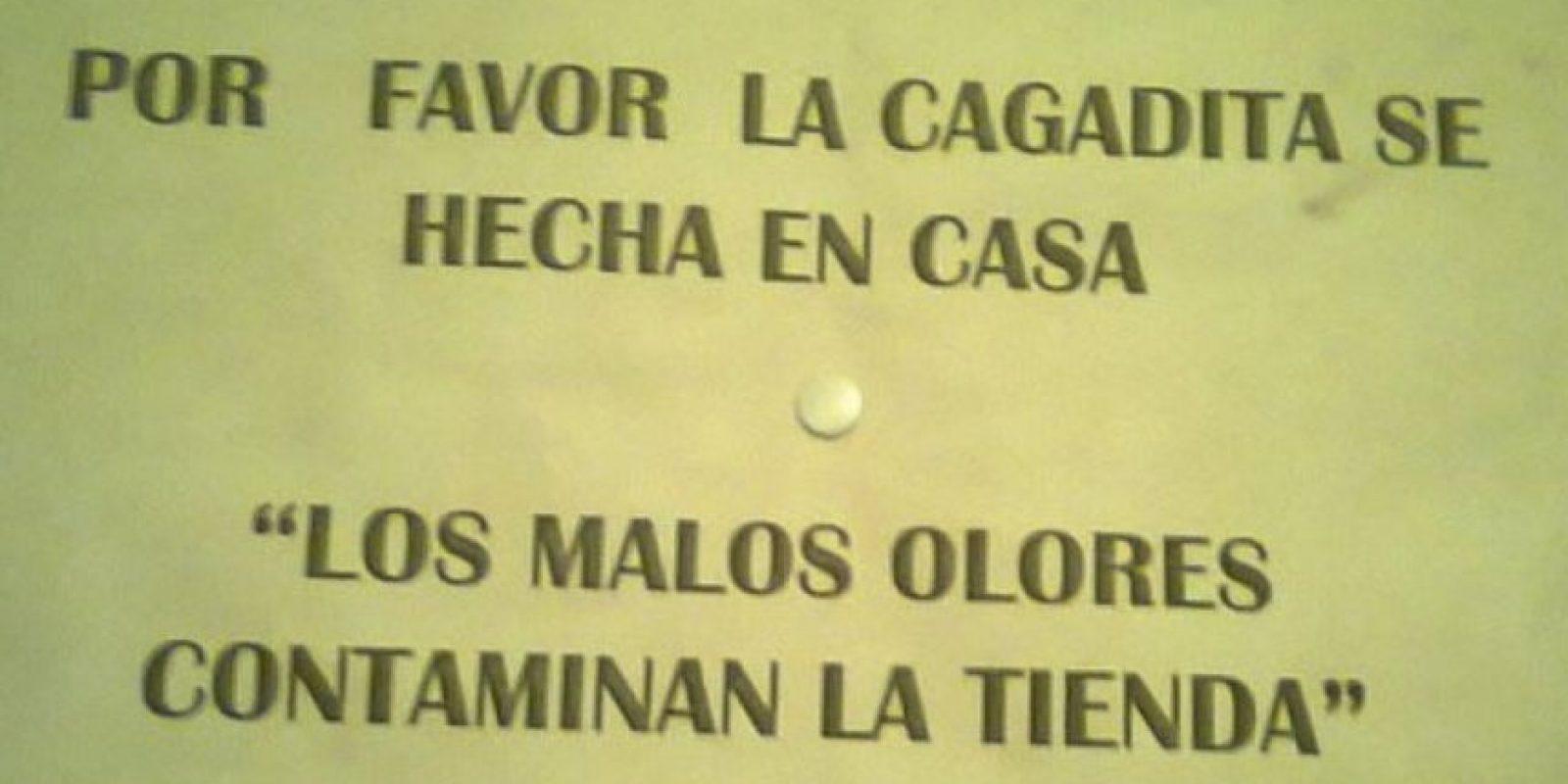 Todo sea por la higiene Foto:Colombianadas.net