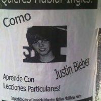 Justin Bieber es un erudito de la lengua inglesa Foto:Twitter