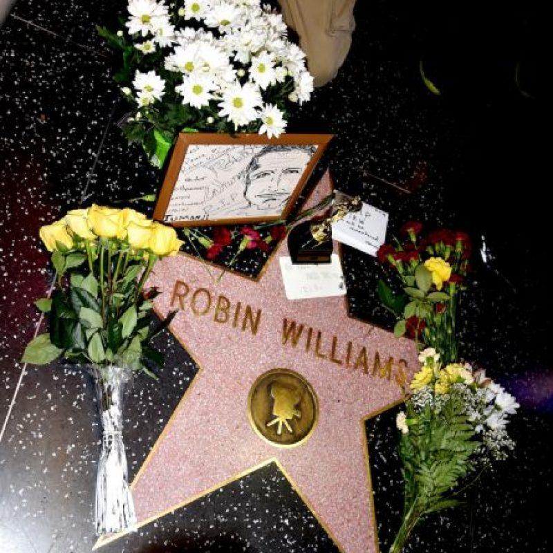 Williams recibió tributos en los lugares donde grabó películas y en su estrella en el Paseo de la Fama Foto:Getty Images