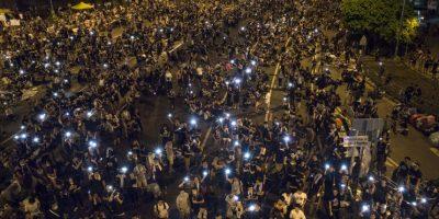 Las imágenes de las protestas pro democracia en Hong Kong también circularon mucho en las redes sociales. Foto:Getty