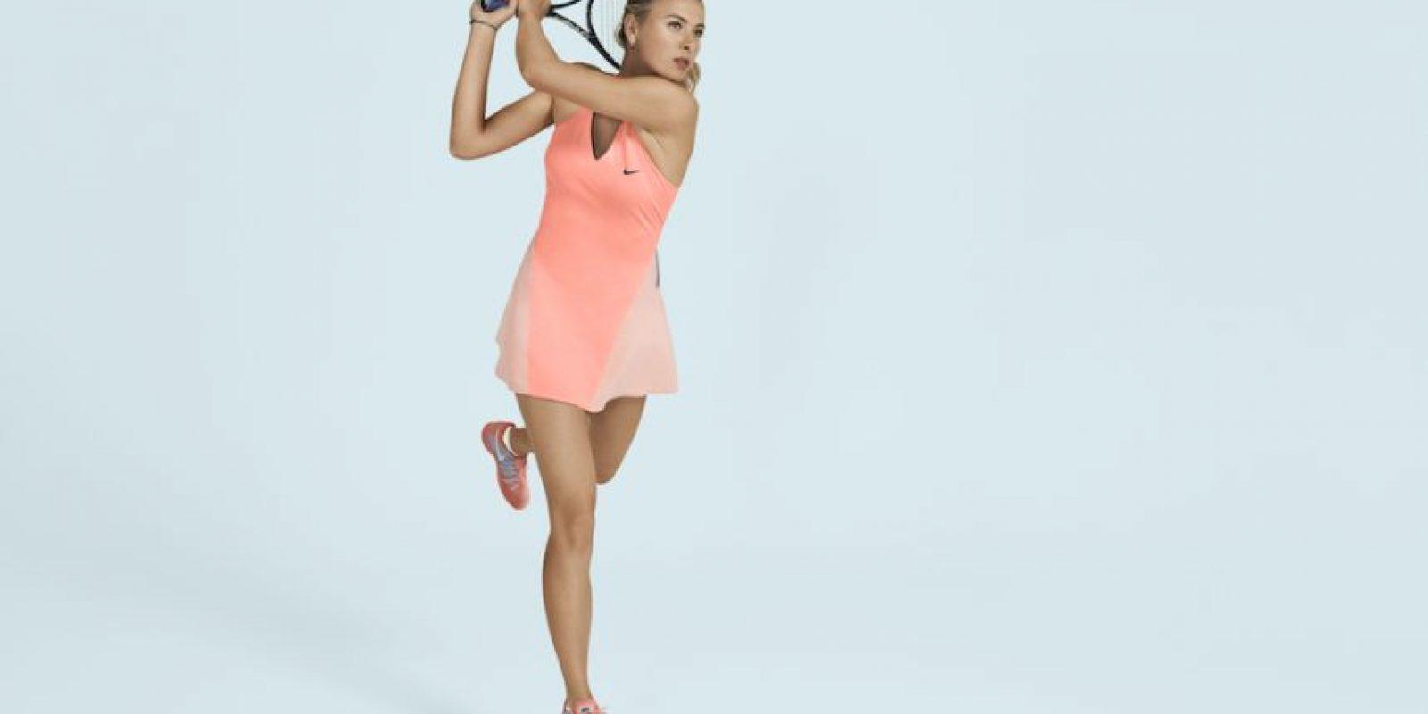 Sharapova ha ganado los cuatro grandes torneos del circuito profesional de tenis. Foto:Nike