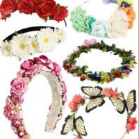 Coronas de flores, protagonistas de los festivales musicales del mundo. Foto:Pinterest