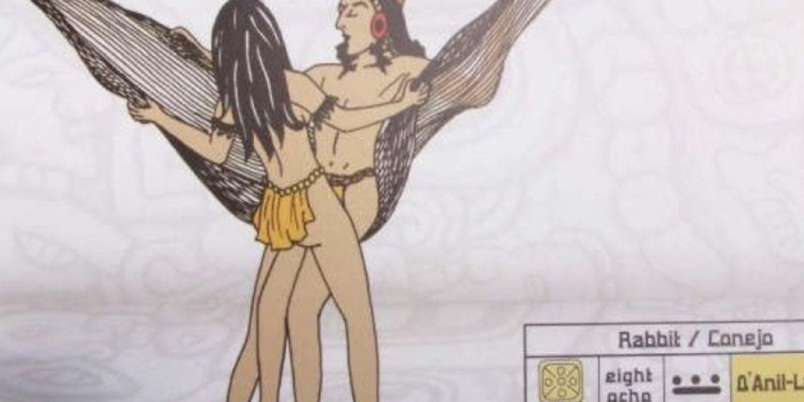 """El """"Maya Sutra"""" no es de la cultura maya. Fue creado por el venezolano Carlos Torrealba, que ideó posiciones sexuales para practicar en la hamaca Foto:Hamaca Sutra/Doggie"""