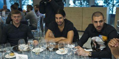 Los alemanes Toni Kross y Sami Khedira, así como el francés Karim Benzema. Foto:EFE