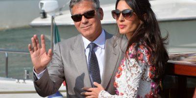 El soltero más codiciado de Hollywood, George Clooney, y la abogada Amal Alamuddin celebraron su boda el sábado 27 de septiembre en una ceremonia privada en Venecia. Foto:AFP