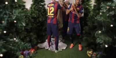 A Rafinha se le rompió el costal de las cartas Foto:Youtube: Barcelona FC