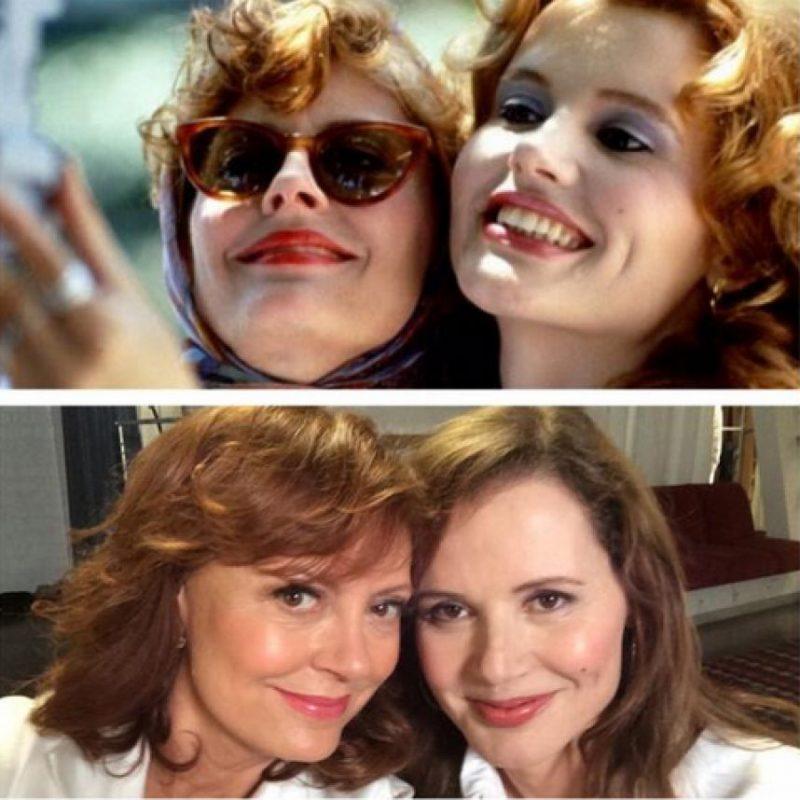 """Thelma & Louise"" 1991-2014 Foto:Twitter Susan Sarandon"