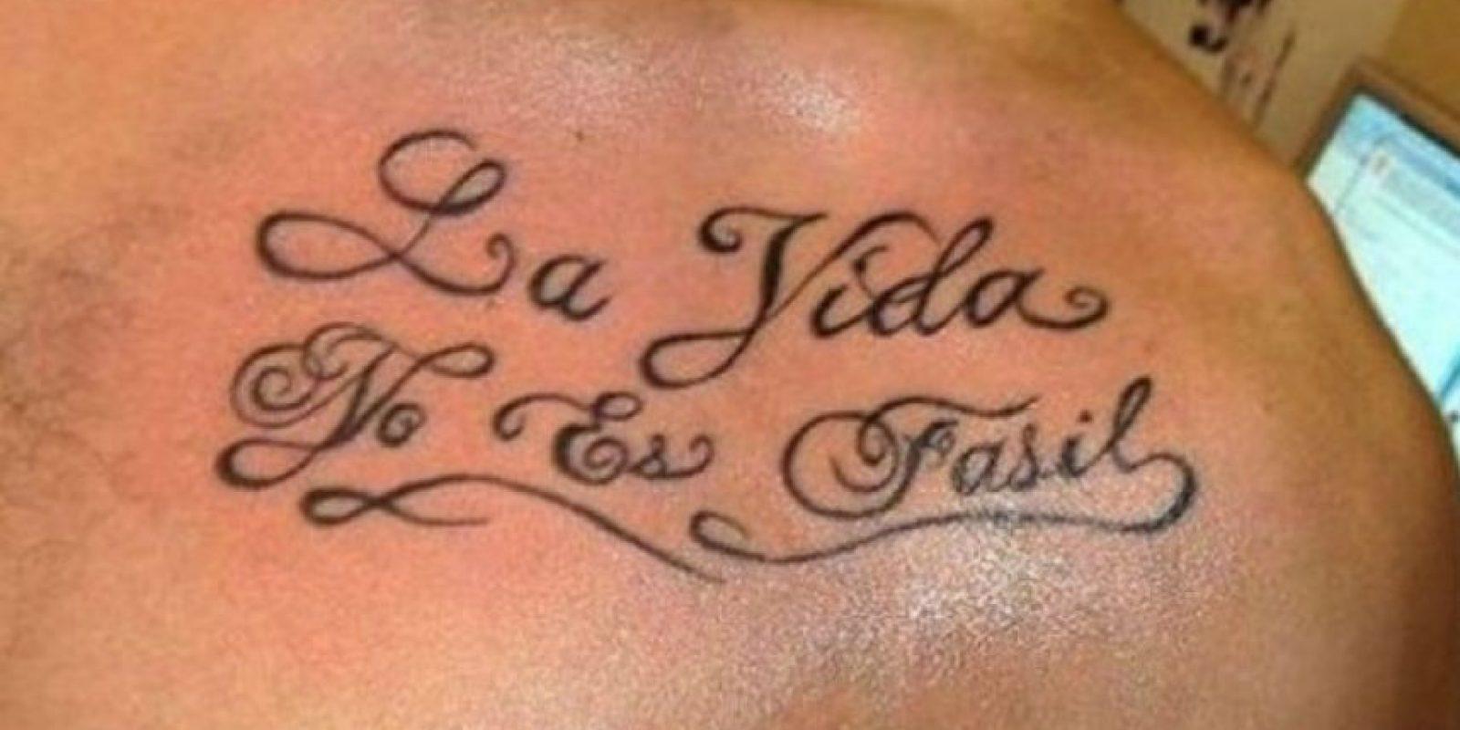 """Y será menos fácil al saber que es con """"c"""" y con acento. Foto:Tumblr.com/Tagged/tatuajes-ortografía"""