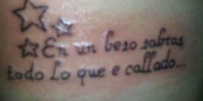 "sabrás, ""he"" callado Foto:Tumblr.com/Tagged/tatuajes-ortografía"