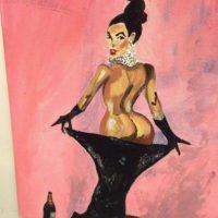 Este es uno de los tantos retratos de Kim Kardashian en su portada con Paper Foto:Uwe Max Jensen/Facebook