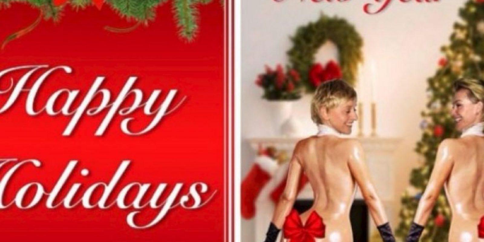 Tarjetas navideñas Foto:EllenDeGeneres/Instagram
