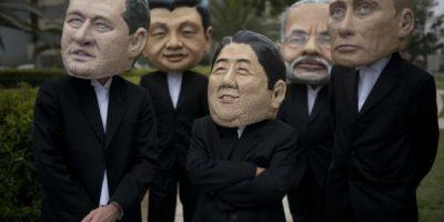 VIDEO. Activistas del clima se disfrazan de presidentes para exigir acuerdos