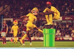 Un salto de Mario Balotelli se viralizó de inmediato Foto:Twitter