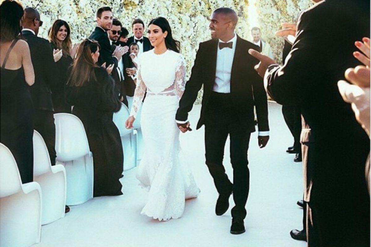 Kim Kardashian y Kanye West Foto:Getty