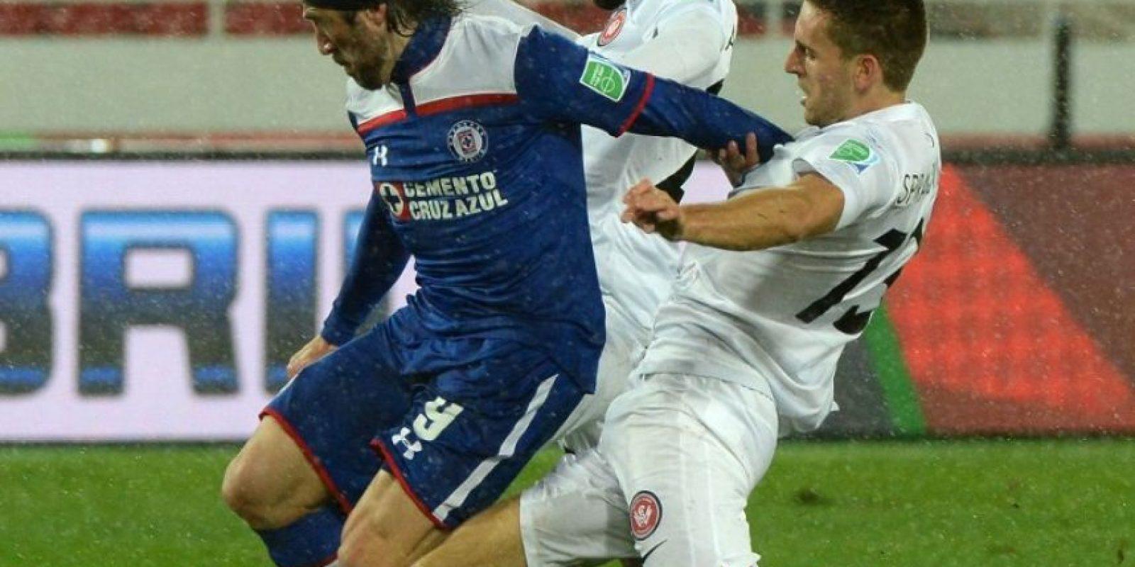Así se disputó el duelo de cuartos de final entre Cruz Azul y Western Sydney Wanderers Foto:AFP