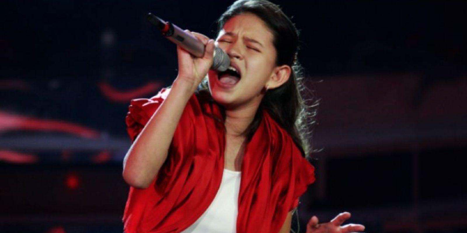 Karla Herrarte, ganadora de la segunda edición de la Academia Kids Lala Foto:Vía Youtube