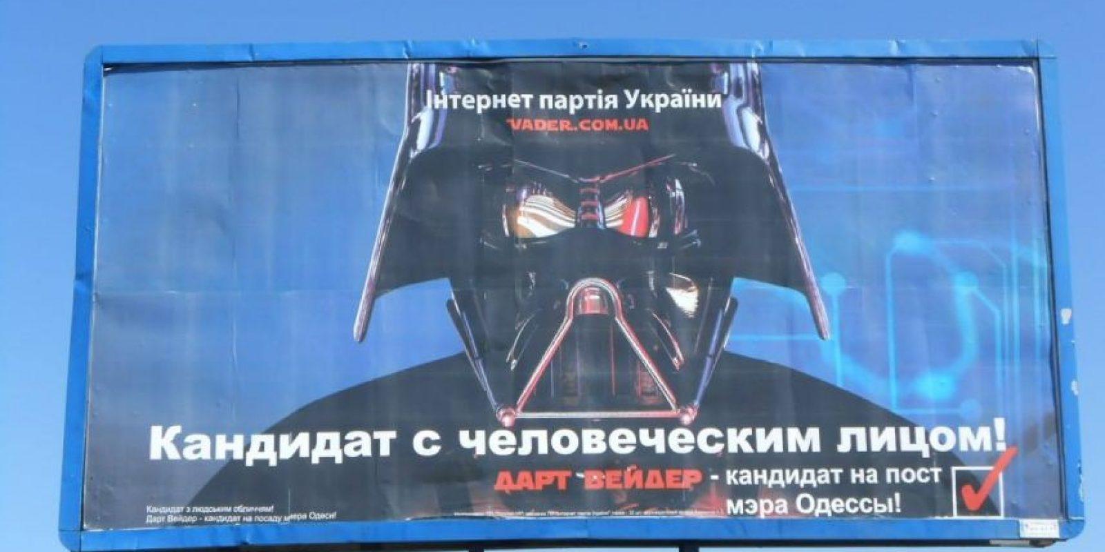 Elecciones de Ucrania Foto:Facebook Дарт Вейдер (Darth Vader)