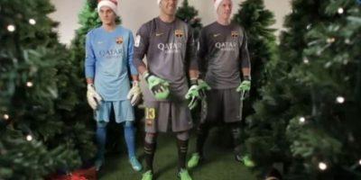 Los guardametas del Barcelona Foto:Youtube: FC Barcelona