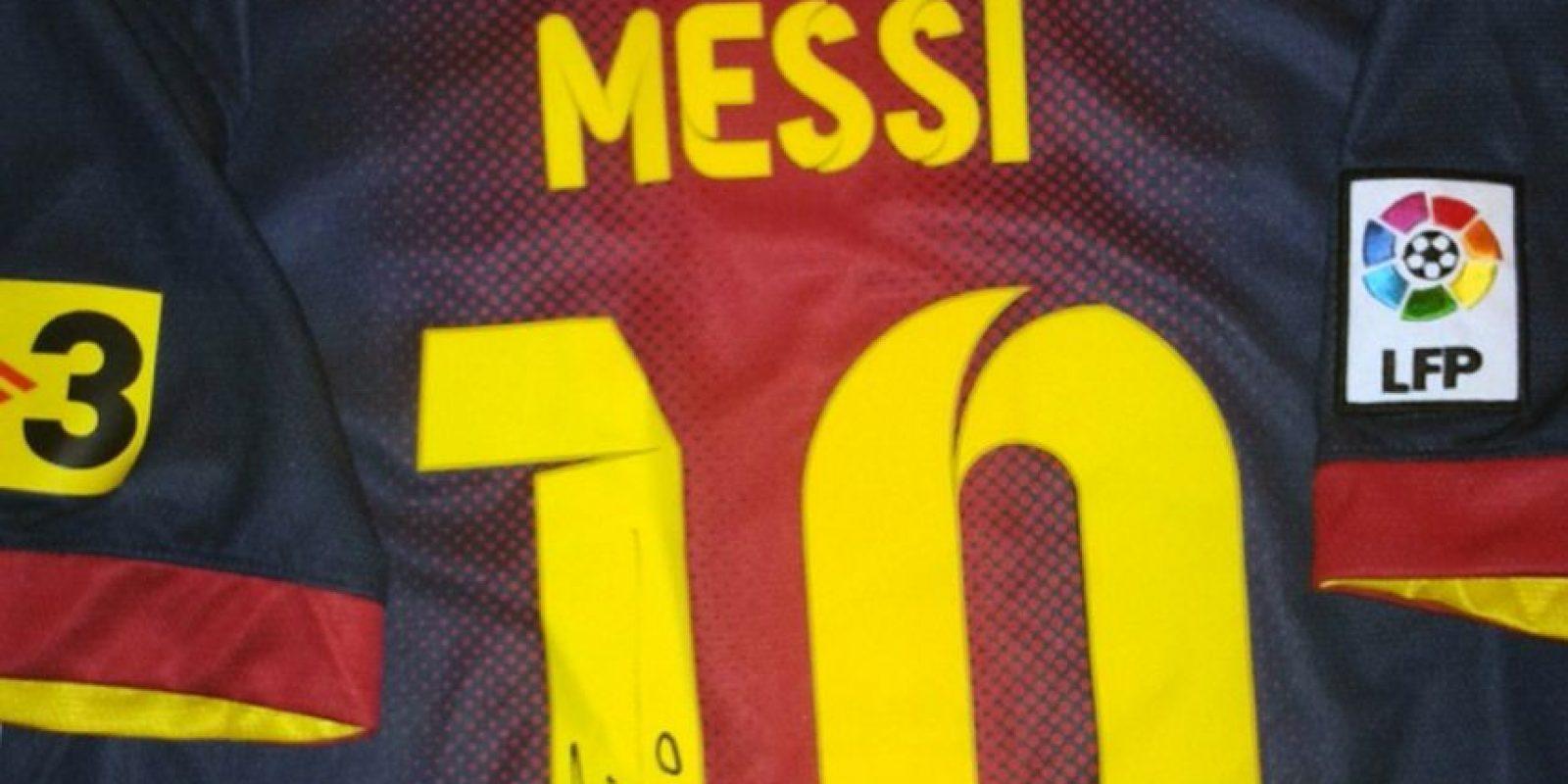 Camiseta de Messi autografiada. Foto:unitedcharity.de