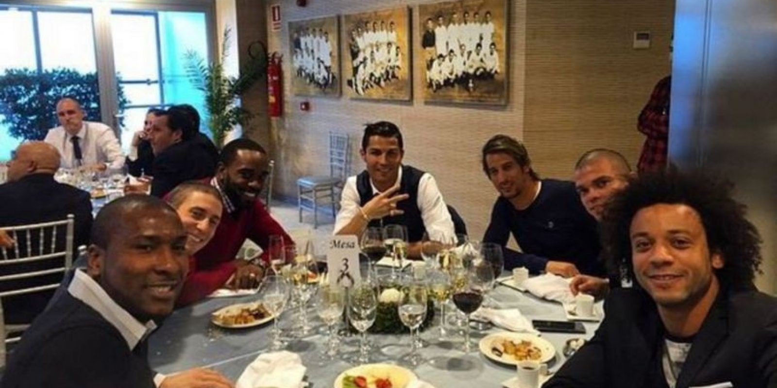 La comida navideña del Real Madrid Foto:Twitter: @realmadrid