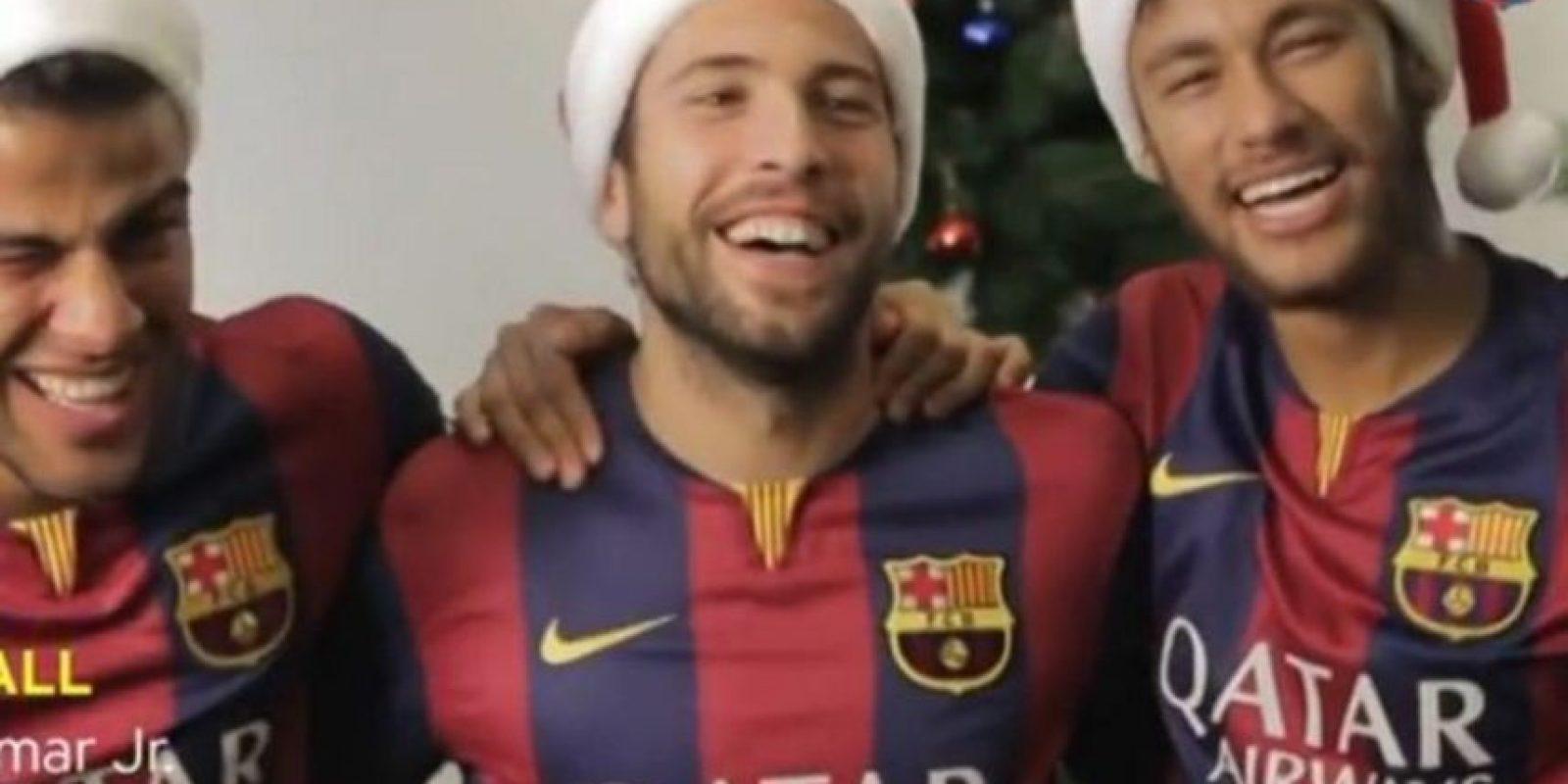 Rafinha, Jordi Alba y Neymar en un spot del Barcelona Foto:Youtube: FC Barcelona