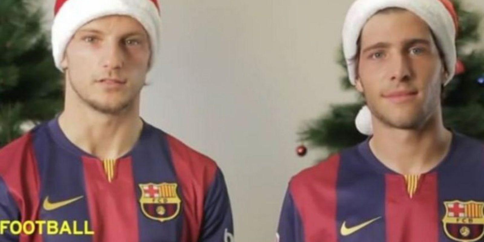 Los culés Rakitic y Sergio Roberto Foto:Youtube: FC Barcelona