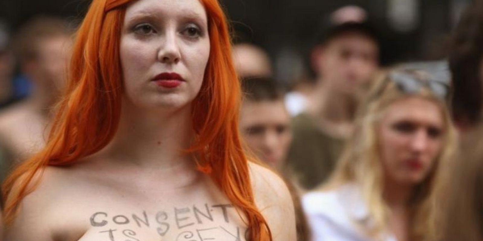 """Es la versión latina de lo que hace el movimiento """"Slutwalk"""" de Toronto. Allí las mujeres protestan por querer vestirse como quieren. Foto:Getty"""