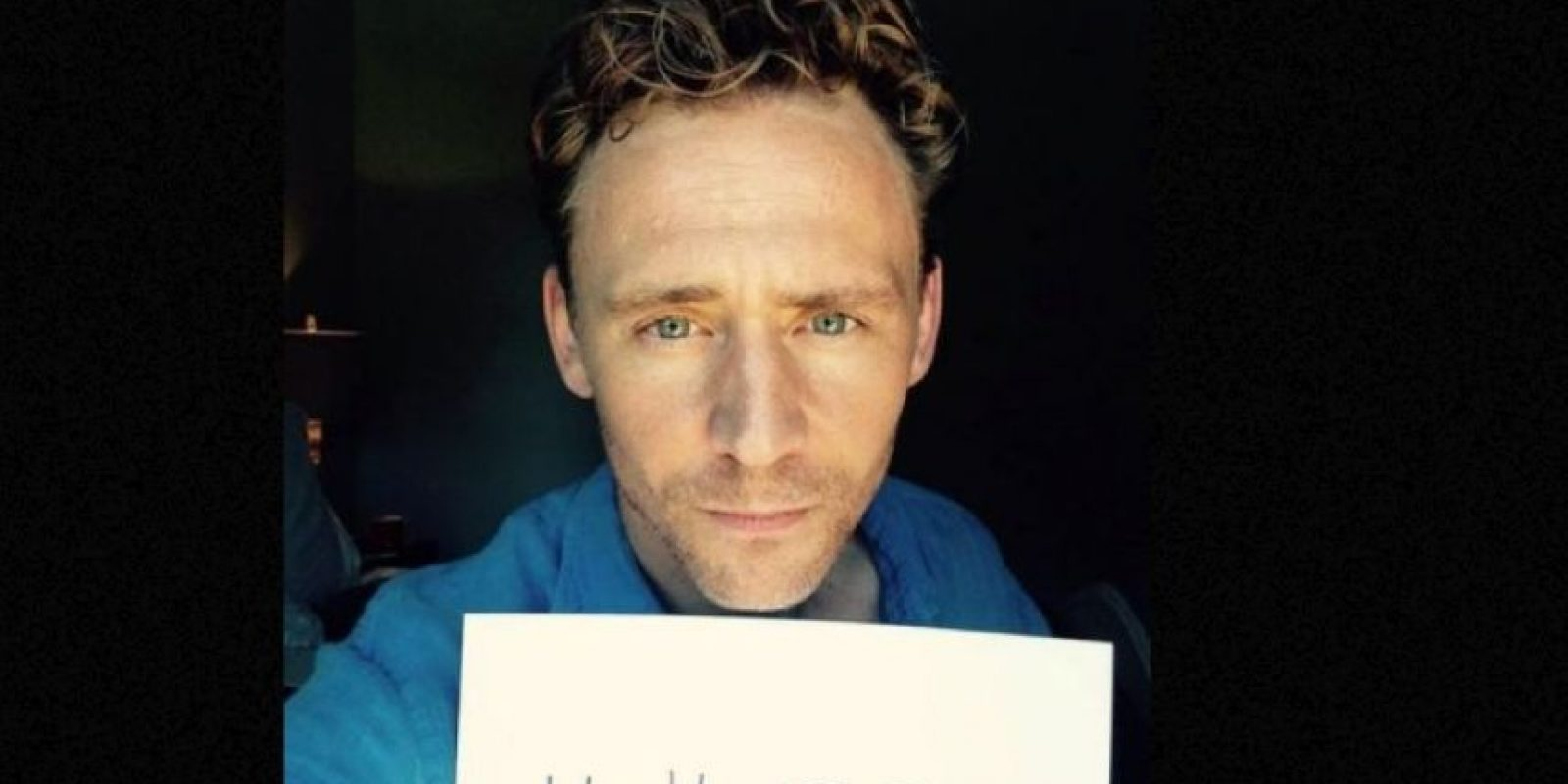 O Tom Hiddleston. Foto: Twitter