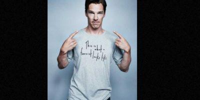 Puso a celebridades como Benedict Cumberbatch a lucir sus camisetas. Foto:Elle UK