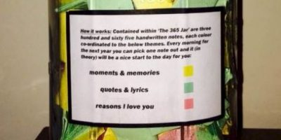 FOTOS: ¡Qué romántico! Escribió una nota de amor para su novia todos los días del año