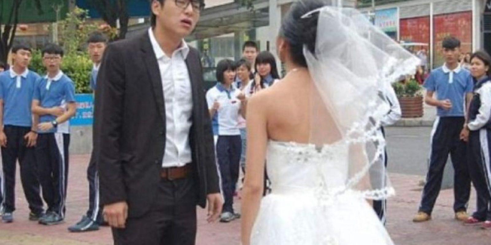 """Esperaba que él le dijera: """"sí, cariño, te amaré con arrugas"""" y le diera un abrazo. Foto:Weibo"""