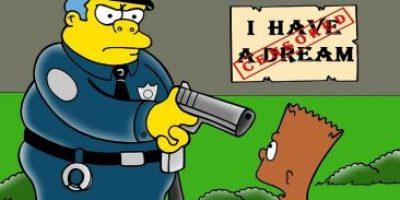 """FOTOS: Los Simpson """"protestan"""" contra la violencia policíaca en EE. UU."""