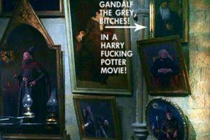 """En la oficina de Dumbledore hay un cuadro de Gandalf el gris de """"El señor de los anillos"""". Foto:Twitter"""