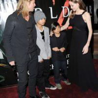 2013, Brad Pitt, Maddox Jolie-Pitt, Pax Jolie-Pitt y Angelina Jolie Foto:Getty Images