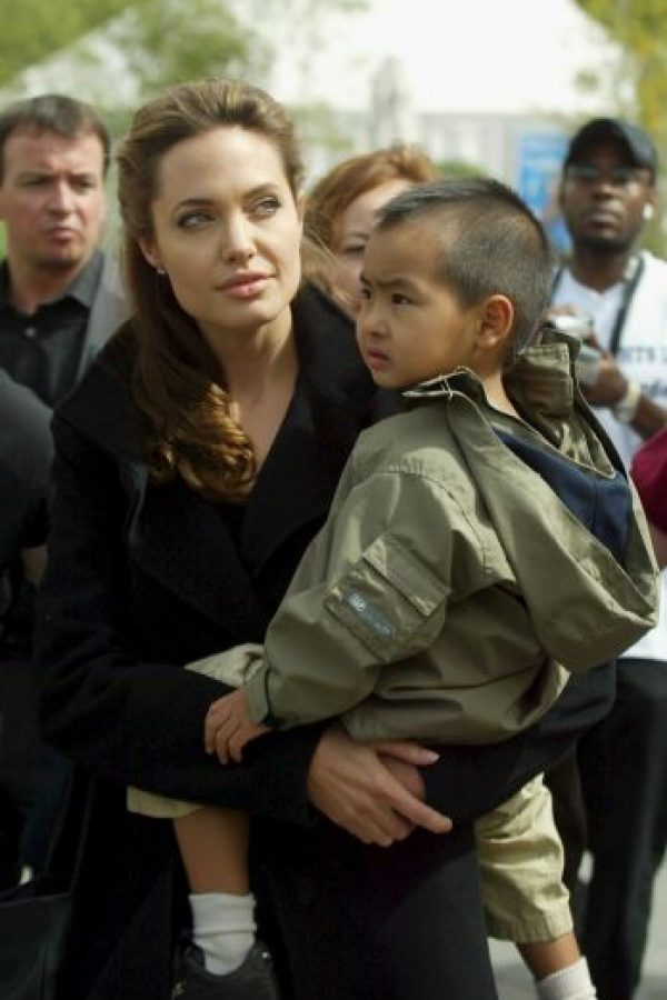 2005, Angelina Jolie y Maddox Foto: Getty Images