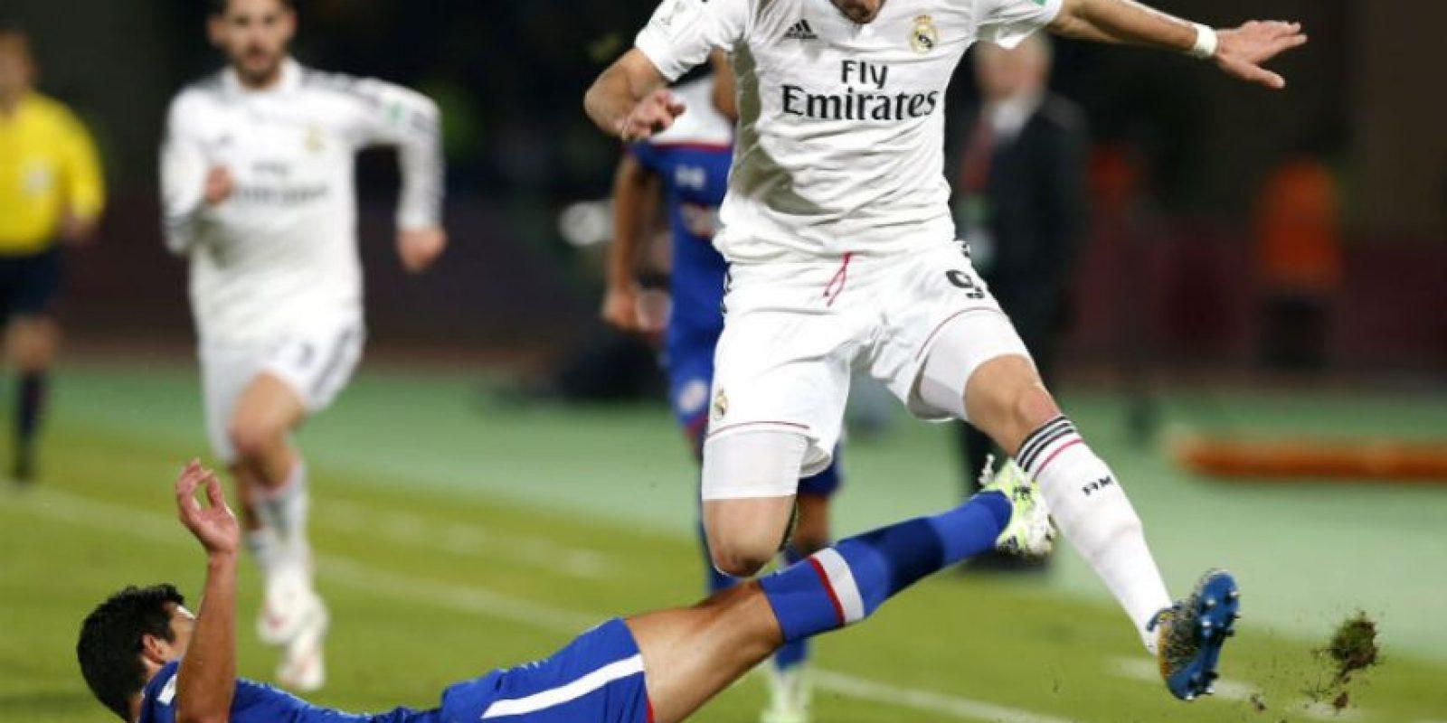 El Real Madrid fue amplio dominador del juego ante el Cruz Azul en Marrakech. Foto:AFP