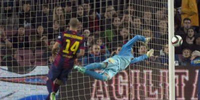 Javier Mascherano también intentó llevar peligro al arco rival. Foto:EFE