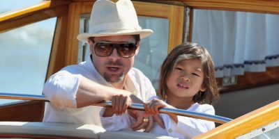 2008, Brad Pitt y Pax Thien Jolie-Pitt Foto: Getty Images