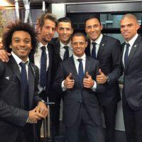 Los jugadores del Real Madrid durante su viaje a Marruecos. Foto:twitter.com/MarceloM12