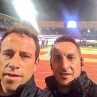 Gerardo Torrado y Christian Giménez del Cruz Azul. Foto:twitter.com/gerardotorrado6