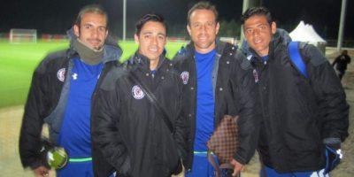 Los jugadores del Cruz Azul tomándose la foto en Marruecos. Foto:twitter.com/gerardotorrado6